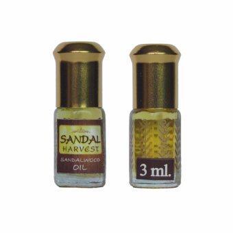 SandalHarvest Sandalwood Oil น้ำมันไม้หอมแก่นจันทร์ ไม้จันทร์หอมหอมอโรม่า แท้ 100% ไม่มีน้ำหอม ไม่เจือจาง ไม่ไส่สี 3 ml.