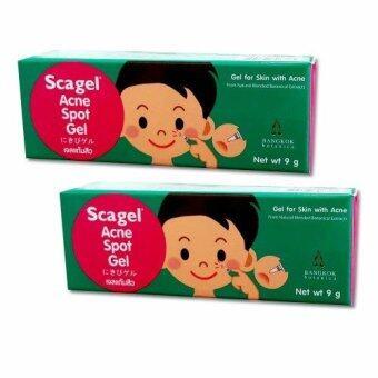 Scagel Acne Spot Gel สกาเจล แอคเน่ สปอต เจล 9 g. (2หลอด)