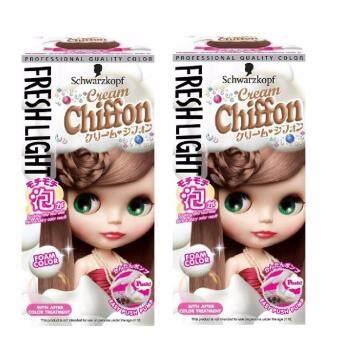 อยากขาย Schwarzkopf Fresh Light Milky Color Cream Chiffon Pack 2