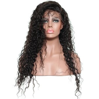 SDP 250% Density Curly Lace Front Human Hair Wigs Pre PluckedBrazilian Remy Hair Honey Queen Bleached Knots Fake Hair 16inches -intl