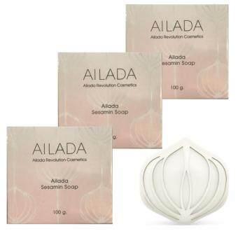 SESAMIN SOAP Ailada Soap \ไอลดา เซซามิน โซป\ อุดมไปด้วยสารสกัดเซซามินจากงาดำเพื่อผิวสวยใสอย่างธรรมชาติ ขนาด 100g./ 1 กล่อง จำนวน 3 กล่อง
