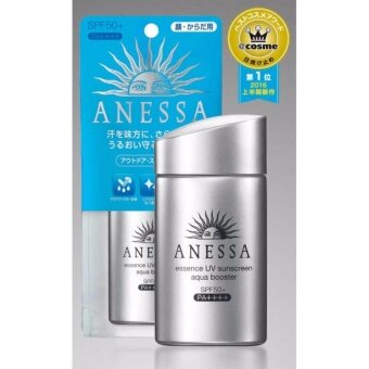 SHISEIDO ANESSA Perfect uv Sunscreen Aqua Booster SPF50+ PA++++ สีเงิน 60ml