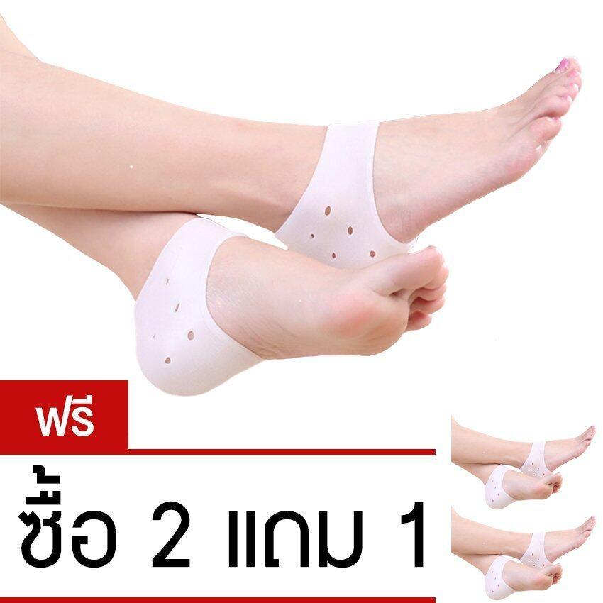 Silicone Heel socks ซิลิโคนลดปัญหาส้นเท้าแตก(ซื้อ 2 คู่แถม 1 คู่) image