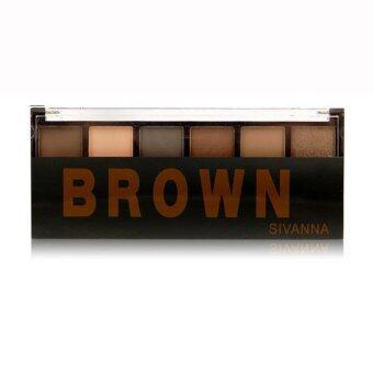 Sivanna อายแชโดว์ พาเลท Brown 6 color - Brown
