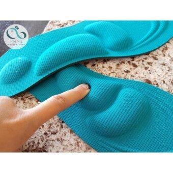 แผ่นรองเท้าสุขภาพ ลดอาการปวดเมื่อยเท้า ปวดส้นเท้า ปวดฝ่าเท้า (Size M) (สีฟ้า)