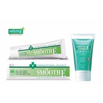 Smooth E Cream 100 g. x 1+ Babyface foam 4 oz. x1