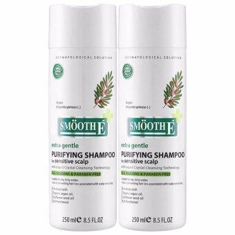 Smooth E Purifying Shampoo for Sensitive Scalp สมูท อี แชมพู [2 ขวด] แชมพูลดปัญหาและป้องกันการหลุดร่วงของเส้นผม