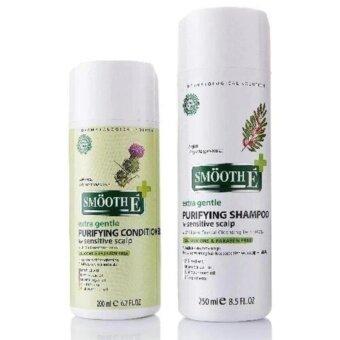 Smooth-E สมูท อี เพียวรีฟายอิ้ง แชมพู ฟอร์ เซนซิทีฟ สคาล์พ Smooth E Purifying Shampoo 250 ml. และ Smooth E Purifying Conditioner for Sensitive Scalp 200 ml.