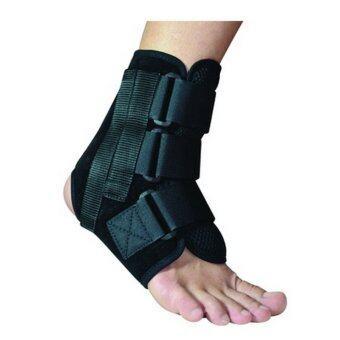 Softguards Ankle Brace อุปกรณ์พยุงข้อเท้า แบบมีแกนข้าง (Black)