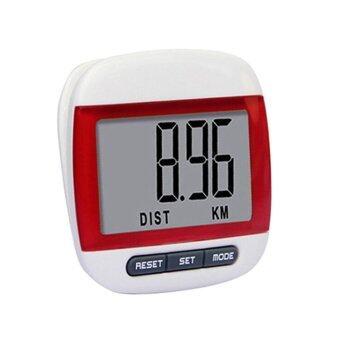 SP เครื่องนับก้าวการเดินและวัดแคลอรี่ระบบดิจิตอล (Pedometer) -สีแดง