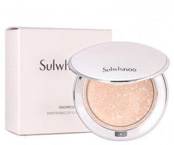 Sulwhasoo Snowise Whitening UV Compact 9g แป้งฝุ่นอัดแข็งลายหินอ่อน ปรับสีผิวขาวกระจ่างใส อำพรางริ้วรอยและรูขุมขน พร้อม SPF 50+ PA+++
