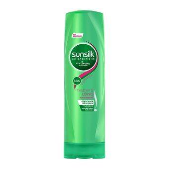 SUNSILK ซันซิล ครีมบำรุงผมสีเขียว สูตรผมยาวสวยสุขภาพดี 320 มล.