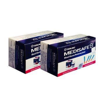 TERUMO Medisafe EX แผ่นตรวจน้ำตาลพร้อมเข็มเจาะเลือด อย่างละ 30 ชิ้น (2 กล่อง)