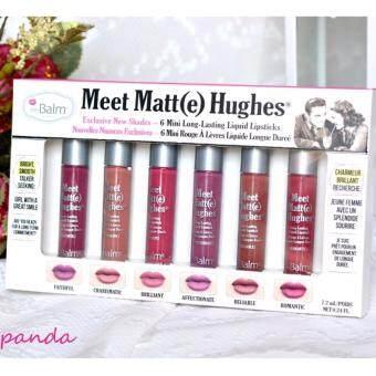 The Balm Meet Matte Hughes 6 Mini Long Lasting Liquid Lipstick Set **สีใหม่**