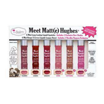 ใหม่ล่าสุด The Balm Meet Matt(e) Hughes 6 Mini Long Lasting Liquid Lipsticks # Vol.3