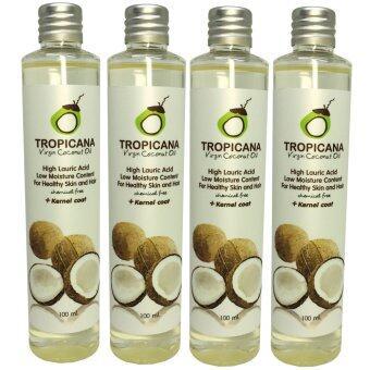 โปรโมชั่นพิเศษ Tropicana น้ำมันมะพร้าวสกัดเย็นบริสุทธิ์ 100 มิลลิลิตร (แพ็ค 4 ขวด)