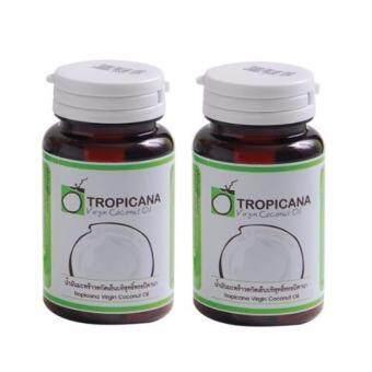 Tropicana Virgin Coconut Oil น้ำมันมะพร้าวสกัดเย็นทรอปิคานา(ชนิดแคปซูล) 2ชิ้น
