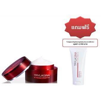 เติมคอลลาเจนให้ผิวหน้าและผิวกาย Trylagina Tri-Function Collagen Care 30 g.1 กระปุก แถมฟรี เซรั่ม สำหรับผิวกาย 1 หลอด