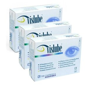 Vislubeน้ำตาเทียม ไม่มีสารกันบูด0.3ML (3กล่อง)
