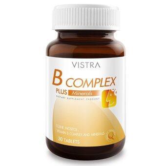 Vistra B-Complex Plus Minerals 30 Tabletsวิสทร้า บีคอมเพล็กซ์วิตามินบีรวม