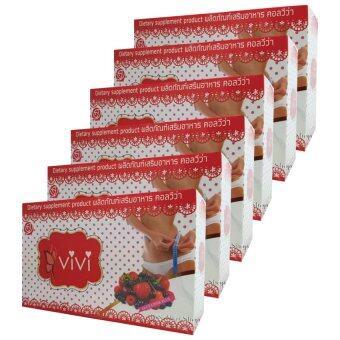 Vivi ผลิตภัณฑ์เสริมอาหารคอลวีว่า วีวี่ เพิ่มการเผาผลาญ และลดน้ำหนัก บรรจุ10ซอง x (6กล่อง)