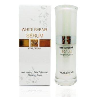 เรียวครีม รีเเพร์เซรั่ม (White Repair Serum) เซรั่มหน้าเงาช่วยทำให้ผิวหน้าขาวใส เงาวาว ดูมีออร่า หน้าเด้ง 20Ml.
