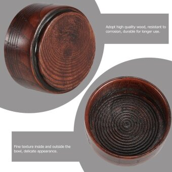 Wooden Shaving Brush Bowl High Quality Shaving Mug Shave Cream Soap Cup Portable Male Face Cleaning Soap Bowl - intl