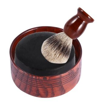 Wooden Shaving Soap Bowl Natural Mug Tool For Men Beard-shaving Foam Round - intl