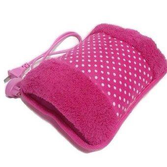 Yuriko กระเป๋าน้ำร้อนไฟฟ้า นุ่มนิ่ม สอดมือได้ ร้อนเร็ว Heating Bag (สีชมพู/ลายจุด)