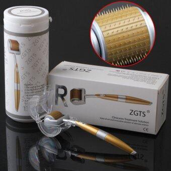 ขอเสนอ ZGTS Titanium Dermaroller เข็มกลิ้ง รักษาหลุมสิว เดอร์มาโรลเลอร์from France Microneedle Roller หัวเข็ม 1.00 (Gold)