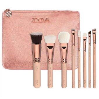 ZOEVA 8PCS Professional makeup brush(Golden pink)1ชิ้น
