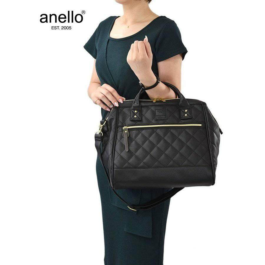 กาญจนบุรี anello quilting 2way shoulder bag (regular)