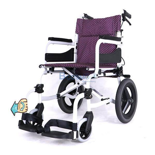 ขายดีมาก! Wheelchair รถเข็นอัลลอยด์ (โซม่า) SOMA SM-250.5 F14 สามารถปรับพนักพิงหลังได้ รองรับน้ำหนักได้ถึง 100 กก. [[ ประกันโครงสร้าง 1 ปีเต็ม!! ]] / bcosmo thailand