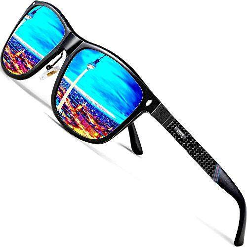 Men/'s Driving Polarized Sunglasses Al-Mg Metal Frame Ultra Light