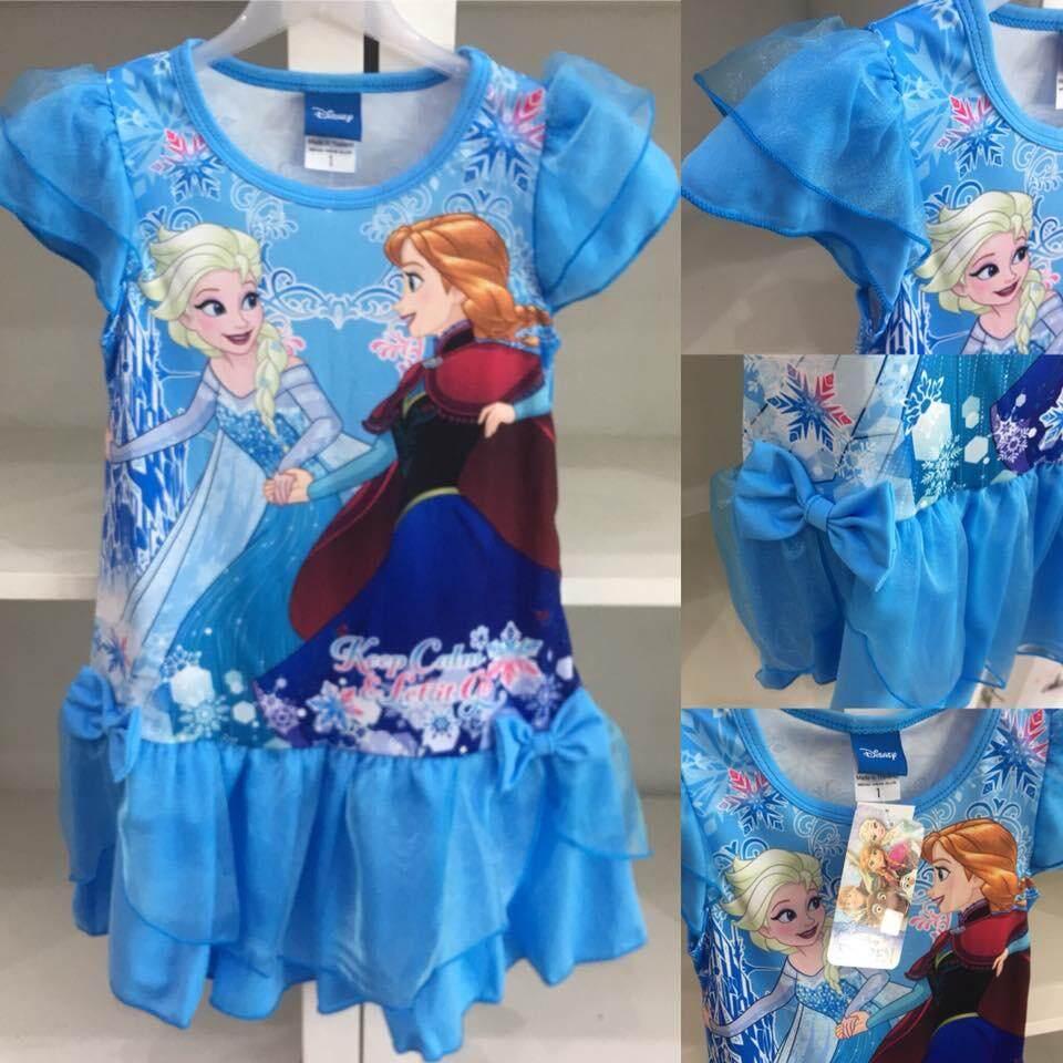 เก็บเงินปลายทางได้ เสื้อผ้าเด็ก ชุดเจ้าหญิง เจ้าหญิงเอลซ่า อก 22-24-26 นิ้ว งานลิขสิทธิ์แท้ 100% ส่งฟรี Kerry