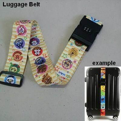 เก็บเงินปลายทางได้ ส่งฟรี kerry !!! ขาย Luggage Belt สายรัดกระเป๋าเดินทาง สายคาด สายล็อค มีรหัสล็อคบนสาย อันปังแมน anpanman สีเหลือง