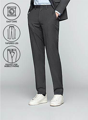ส่วนลด GQWhite จันทบุรี GQSize กางเกงขายาว - GQ  Slacks  Long Pants Wool Blend Fabric Solid  130-611427  Gray