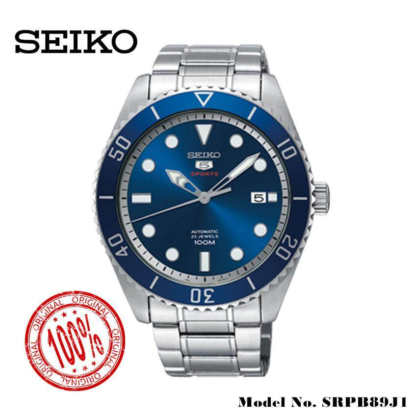 ยี่ห้อไหนดี  แพร่ (สินค้าแนะนำ) นาฬิกา Seiko 5 นาฬิกาข้อมือ Sports Automatic DIVER 100 M Mens Watch นาฬิกาชาย รุ่น SRPB89J1 จัดส่งฟรี สามารถเก็บเงินปลายทางได้