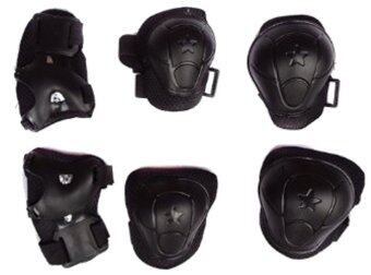 ITandHome สนับเข่า สนับศอก สนับมือ อุปกรณ์กันกระแทก สำหรับทำกิจกรรม - สีดำ