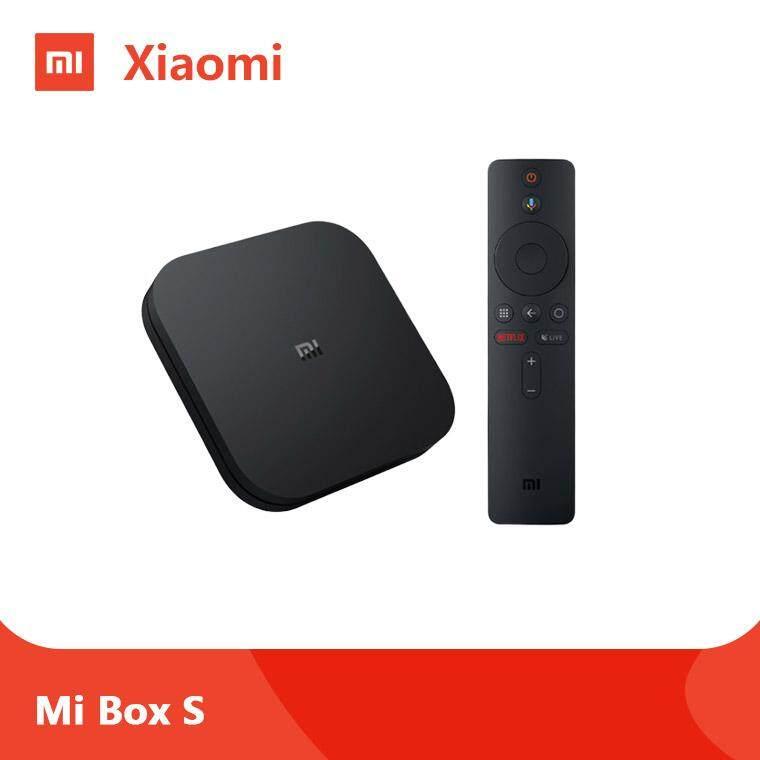 ยี่ห้อไหนดี  อ่างทอง New Xiaomi MI BOX S 4K Ultra (MI BOX 4) กล่องแอนดรอยด์ทีวี รุ่น 4 รุ่นใหม่ล่าสุด Android TV 8.1 GLOBAL VERSION