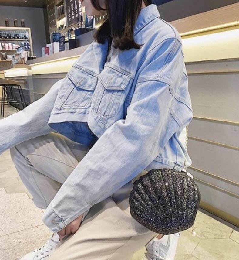 กระเป๋าเป้สะพายหลัง นักเรียน ผู้หญิง วัยรุ่น สมุทรสงคราม กระเป๋าสะพายข้างทรงหอยแฟชั่น bag