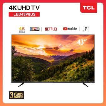 TCL 43 นิ้ว LED  4K UHD Wifi internet Smart TV (รุ่น 43P6US) -HDMI-USB-Net.flix &Youtube