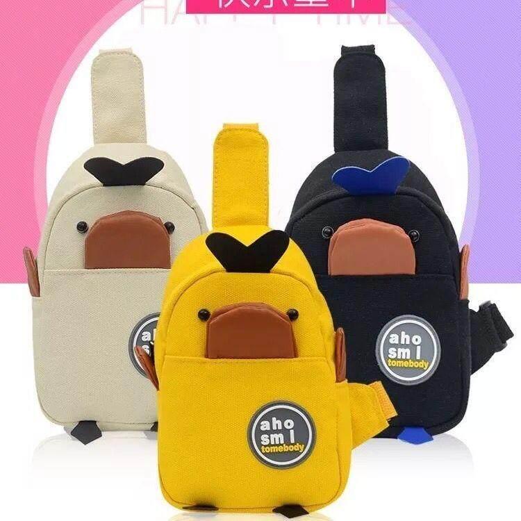 กระเป๋าเป้ นักเรียน ผู้หญิง วัยรุ่น พังงา กระเป๋าคาดอกแพนกวินน้อยน่ารัก เป็ด48