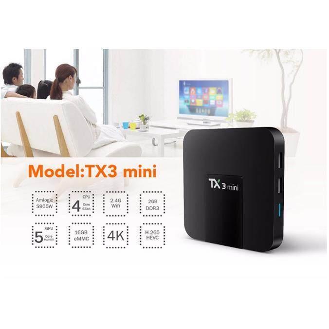 บัตรเครดิต ธนชาต  นครศรีธรรมราช Android TV Box TX3 Mini กล่องแอนดรอย ดูหนังฟังเพลง พร้อมแอพพริเคชั่นมากมาย Android 7.1 Ram 2GB/16GB