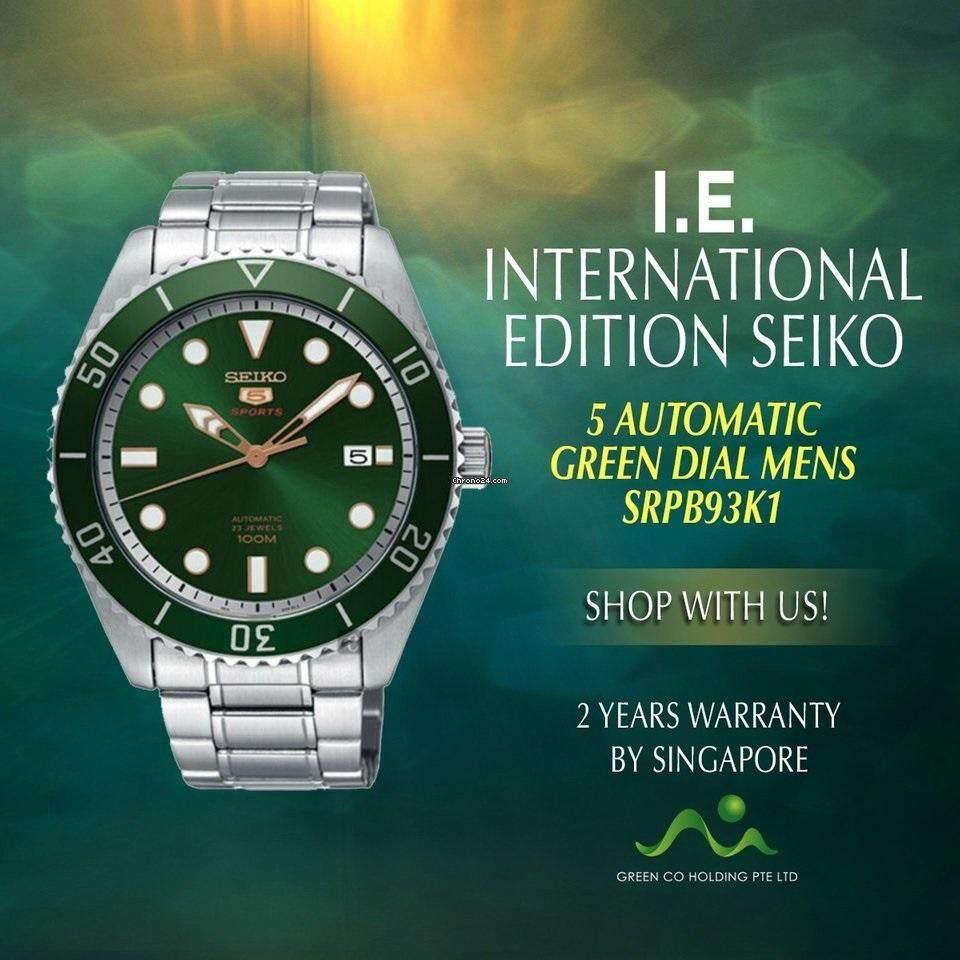 การใช้งาน  ปทุมธานี SEIKO 5 Sports Automatic นาฬิกาข้อมือผู้ชาย สแตนเลสแท้ รุ่น SRPB93K1 (สีเขียว)