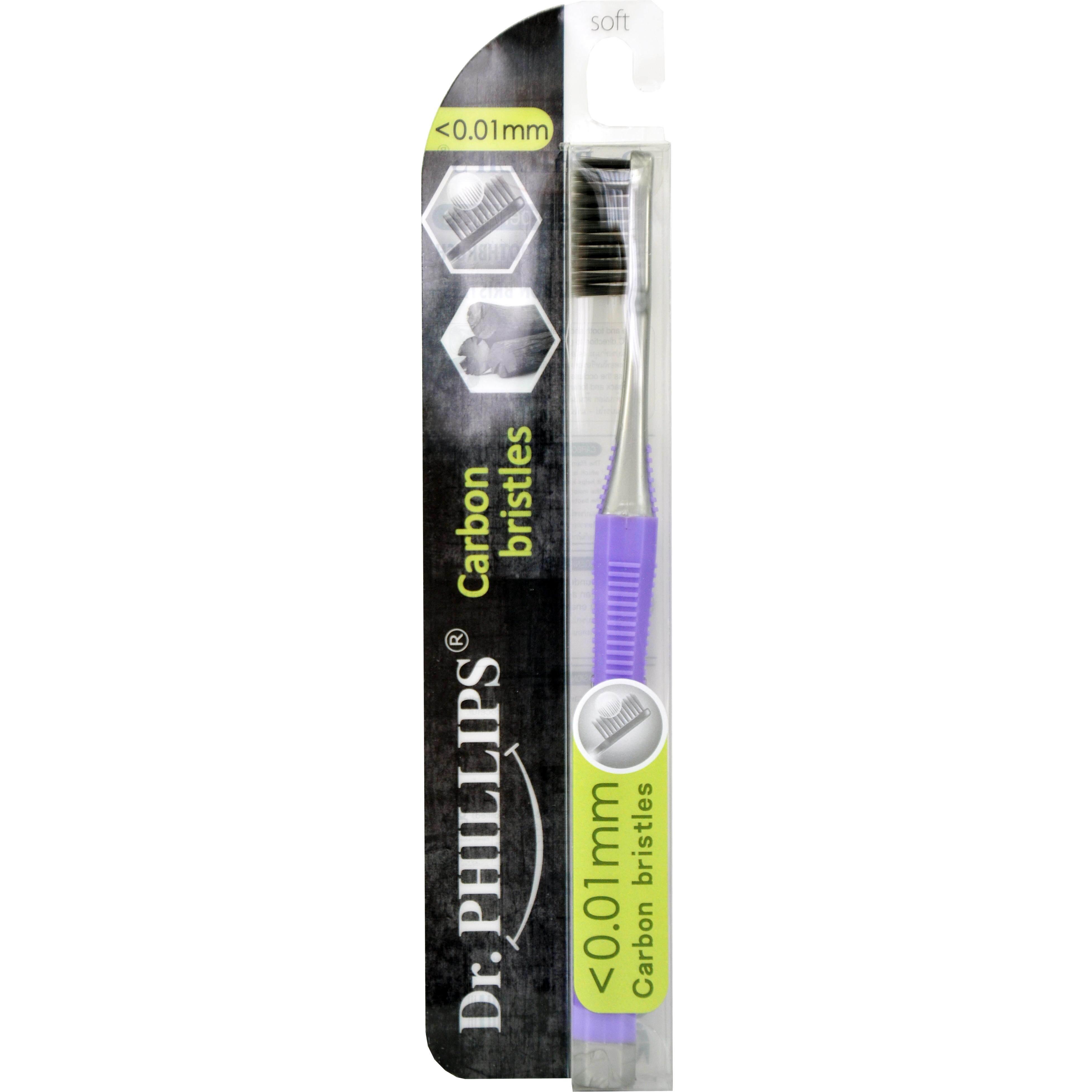แปรงสีฟันไฟฟ้า ทำความสะอาดทุกซี่ฟันอย่างหมดจด พัทลุง Dr  Phillips toothbrush carbon  charcoal  bristles 0 01mm