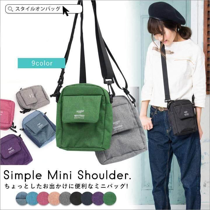 ยี่ห้อไหนดี  มุกดาหาร Anello Simple Mini Shoulder (สีเทา)