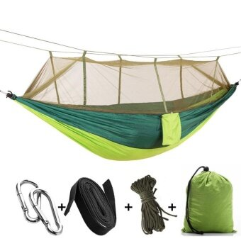 Sleeping Bags Outdoor Parachute Fabric Nylon Hammock Enlarged Widening Ultra-light Hammock Woodland Lake Swing Cot Bed 300x200cm Iqammocking Sports & Entertainment