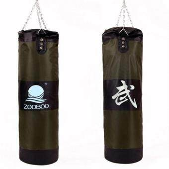 100cm Empty Punching Bag with Chain Martial Art Hollow TaekwondoBoxing Training Fitness Sandbag กระสอบต่อยมวยสีเขียว 1 pcs
