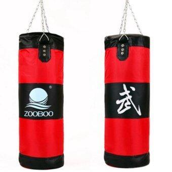 100cm Empty Punching Bag with Chain Martial Art Hollow TaekwondoBoxing Training Fitness Sandbag กระสอบมวยแดง 1pcs